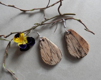 Beautiful Exotic Spalted Tamarind and Wenge Wood Earrings. FREE SHIPPING !!!