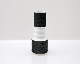 Stylisch vase by KPM Royal Porzellan Bavaria, black and white, No. 599/1