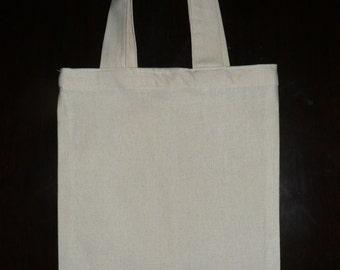 Calico Bags (Tote Bags) with Handle Bulk (20 cm x 22 cm )Bulk 5, 10, 15, 25,
