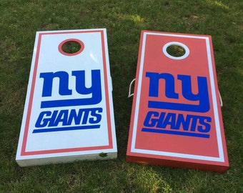 NY Giants Cornhole Boards