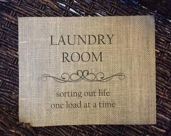 Laundry Room Burlap Print – Home Décor – Wall Decor