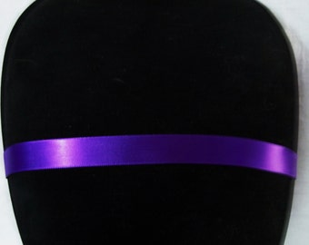 Royal Purple Satin Choker Necklace