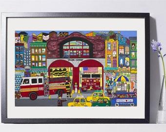 Firehouse Art Painting PSNY - Home Decor