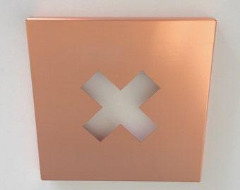Copper 'X' Wall Art