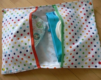 Carpet to langer-pouch-motif purple arrow, diapers, wipes, storage, bag to layer-bag baby-baby