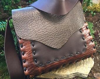 Leather Messenger Bag Man Purse Leather Satchel Cross Body Purse Wide Strap Large Purse Everyday Bag Buffalo Leather Bag Cross Body Satchel