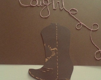 Cowgirl boot card