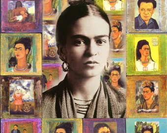 Frida Kahlo Poster - Homenaje a Frida Kahlo - Homage to Frida Kahlo