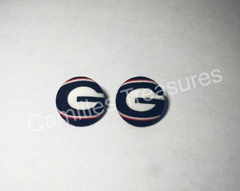 Georgia Bulldogs earrings