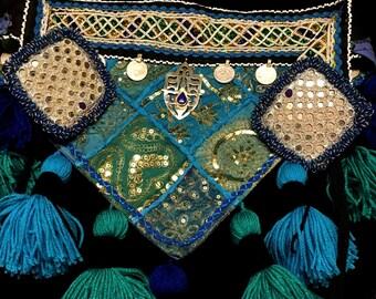 Blue Goddess Tassel Belt