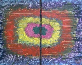 Mirrors, Original abstract art painting