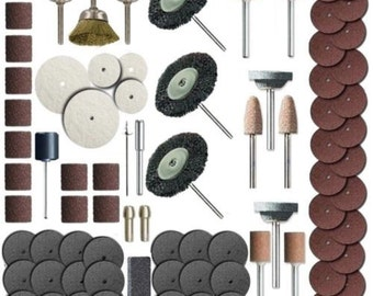 216 Piece Rotary Tool Accessory Set - Fits Dremel - Grinding, Sanding, Polishing