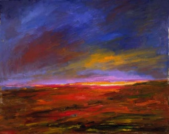 Reaching for the Light - Original Oil on Canvas  30wX24h, unframed