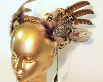 Tribal Wings Feather Festival Headpiece By ShapeShifters - Unique Costumes