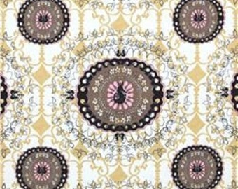 "FreeSpirit Designer Tina Givens ""Pernilla's Journey"" Suzanie Linen/Cotton 54/55"" Wide Fabric in Licorice"