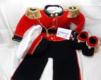 Military suit crochet