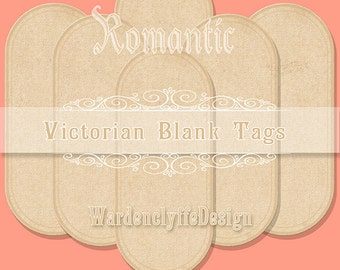 Romantic Blank Tags,Victorian Tags,Hobby crafting,Printable digital graphics collage sheet,Instant Download