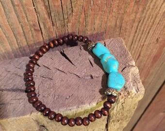 Mini Turqouise Nugget Bracelet