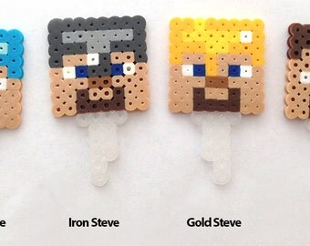 Minecraft Inspired Steve Cupcake Toppers Set