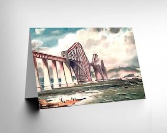 Edinburgh Card - Forth Rail Bridge Birthday Blank Greetings Card CL1078