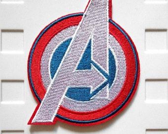 Captain America Avengers Logo Iron On Patch