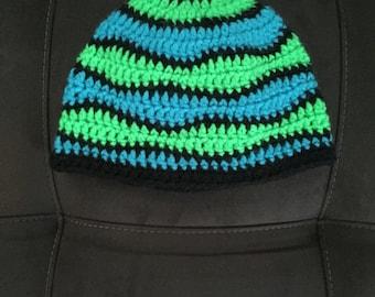"Crochet ""Brain Waves"" Beanie"