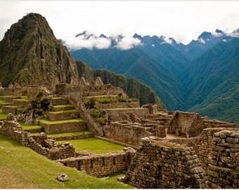 Machu Picchu, Peru Poster Inca Civilization Stunning 15th Century 24x36
