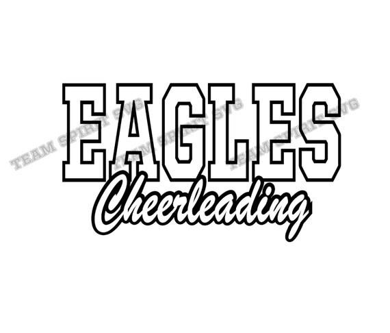 Eagles Cheerleading Svg Dxf Eps Silhouette Studio Eagles