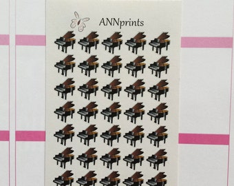 Piano music planner stickers