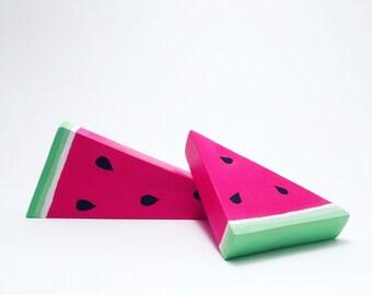 Watermelon Slice Set/Wooden Nursery Decor