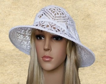 Hat summer wide brim, Cotton hats lady, Suns large brim hat, Organic cotton hats, Wonens summer hat, Knit white sun hat, Knit brimmed hats,