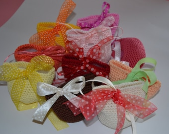 Favor bags, cotton, coloured, white, boy, girl, ceremony