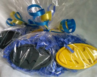 20 Bagged Recycled Crayon Party Favors - Batman Inspired Crayon - Boy or Girl Children Birthday Party Favor