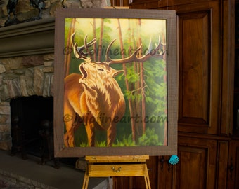 Elk In The Woods by Joanne Witalec, jojofineart.com