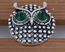 Free Shipping 5pcs 18mm Rhinestones Owl Snaps interchangeable snaps for Noosa Chunk necklaces, rings,Jewerly & bracelet