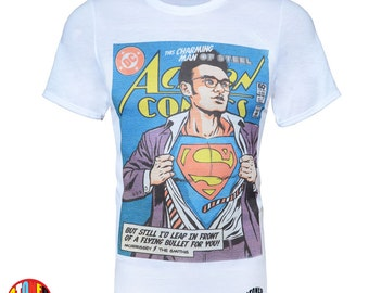 Man Of Steele Morrissey The Smiths SuperMan T-Shirt - Kids & Adult Sizes