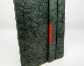 Handmade Green Lokta Paper Journal, Notebook, Scrapbook, Travel Journal, Unique Quality