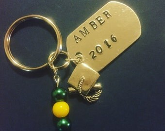 Personalized Class of 2016 Graduation Key Ring