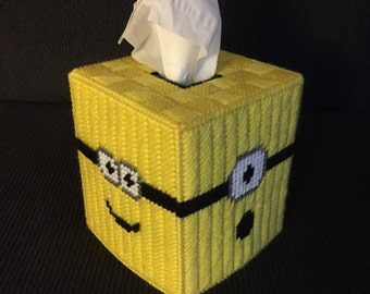Minions Plastic Canvas Tissue Box Cover