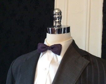 Eleventh Doctor Inspired Purple Pre-Tied Bow Tie