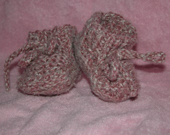 Baby booties, handmade shoes, boys, girls, baby shower gift idea, custom fit, shoe laces