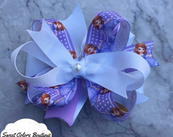 Sofia The First Layered Hair Bow