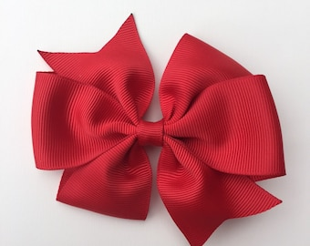 Simple Red Hair bow