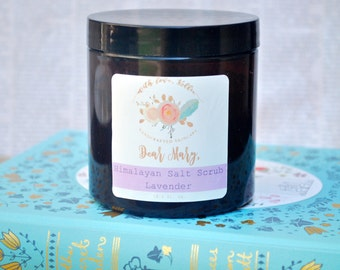 LAVENDER SALT SCRUB | Gift for Her | Himalayan Salt Scrub | Body Scrub | Organic Body Scrub | Body Polish | Vegan Salt Scrub | Exfoliation