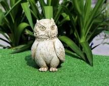 Concrete Owl, Garden Owl, Owl Decor, Owl Figurine, Garden Decorations, Fish Pond Decor, Handmade Gnome, Garden Accessories