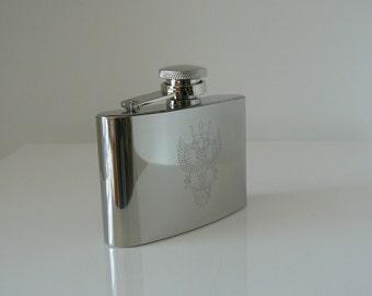Mercian Regiment Stainless Steel Hip Flask