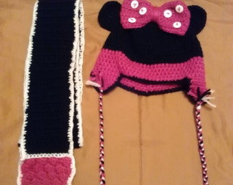 Minnie Hat & Scarf Set