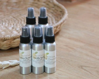 Natural Essential Oil Body Spray: Multiple Scents