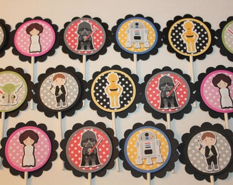 Star Wars Inspired Cupcake Toppers