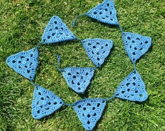 Blue For A Boy Granny Triangle Bunting